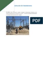 Montaje y Construcción de Subestaciones Eléctricas