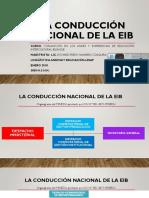 LA CONDUCCIÓN NACIONAL DE LA EIB
