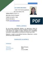 Sandra Patricia Ortiz Hoja de Vida