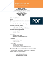 agenda for the Triumph Gulf Coast Board Meeting on Monday, January 29