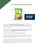 Projeto Fit 60D – Como Eliminar 21 Kg Em 60 Dias