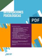 1. Intervenciónes Psicológicas