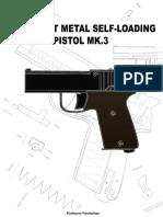 MK 3 DIY Sheet Metal Self Loading Pistol Professor Parabellum