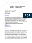 Sustainability Characterization for AM