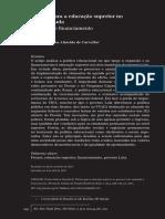 Política Para a Educação Superior No Governo Lula Expansão e Financiamento