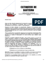 Catequesis de Bautismo