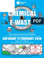 Household Chemical Cleanout and E-Waste Drop Off Flyer 2018