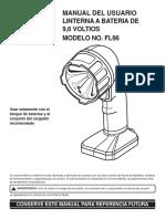 Manual Linterna Ryobi FL96