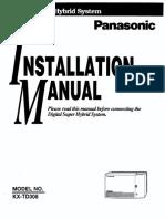 Panasonic KX-TD 308 Installation & Maintenence