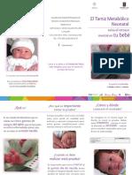 Triptico Tamiz Neonatal