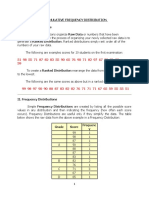 Cummulative Frequency Distribution