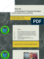 Superintendent Proposed Budget fiscal 2019