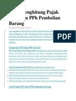 Cara Menghitung Pajak PPN Dan PPh Pembelian Barang.docx