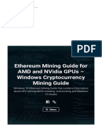 Ethereum Mining Guide for AMD and NVidia GPUs – Windows Cryptocurrency Mining Guide – Windows 10 Ethereum Mining Guide That Contains Information About GPU Settings_BIOS Modding_ Overclocking and Windows 10 Tweaks