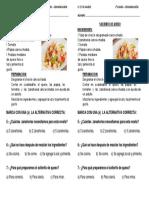 Text Instructivo Receta Solterito Arequipeño