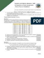 Prueba Parcial 1 Estadística 1 ESPE 201720