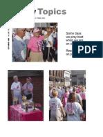 September 2008 Trinity Topics Newsletter, Trinity Toledo Episcopal Church