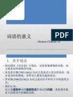 现代汉语通论14(词汇.词语的意义)