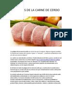 Peligros de La Carne de Cerdo