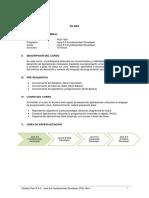 Sílabo Java 8.0 Fundamentals