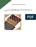 Batik Motif Geometris Dan Non Geometris