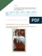 Experimento de los ácidos carboxílicos