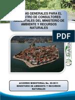 4. Norma General Del Registro de Colsultores Ambnientales Ante El Ministerio de Ambiente y Recursos Natuirales