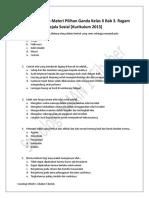 3. Soal Pendjalaman Materi Pilihan Ganda Kelas X Bab 3. Ragam Gejala Sosial [Kurikulum 2013]