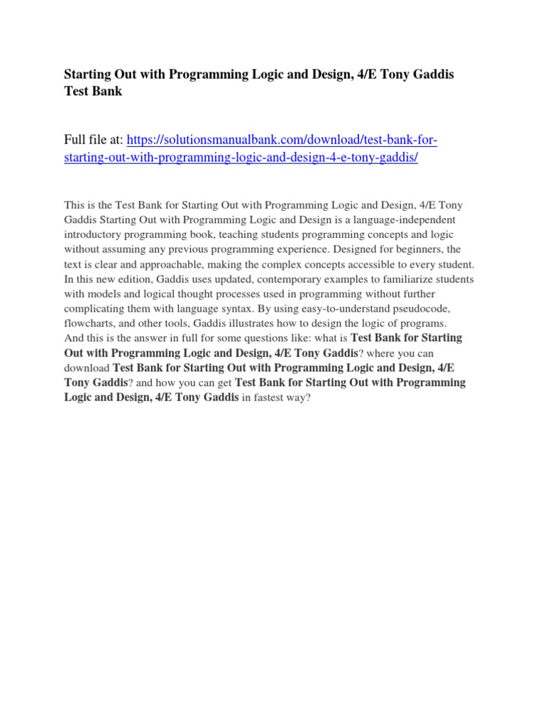 Programming Logic And Design 8th Edition Pdf