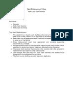 Cash Disbursement Policy