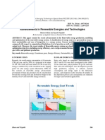 Advancements in Renewable Energies and Technologies
