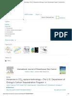 Advances in CO2 Capture Technology—the U.S