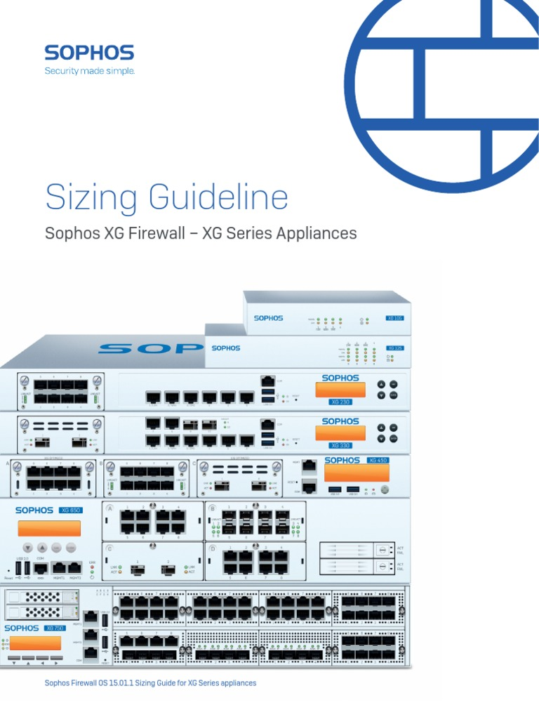 Sophos Xg Series Sizing Guide Sgna | Firewall (Computing) | Proxy Server