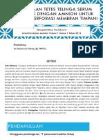 Penggunaan Tetes Telinga Serum Autologus Dengan Amnion