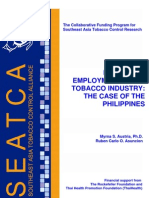 Measuring Employment in the Tobacco Industry