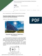 Pengertian, Rangkaian Ekivalen, Kurva Karakteristik Dan Parameter Panel Surya (Photofoltaic) - Electricity of Dream
