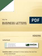 Business Letters Parts-Elements(2)