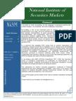 NISM Newsletter July 2010