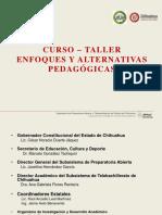 CURSO-TALLER ENFOQUE Y ALTERNATIVAS PEDAGÓGICAS DOCENTES.pptx