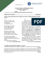 Cls VIII Locala Subiect Romana 2016