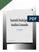 Statistik Deskriptif Analisis Crosstabs