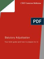 Statutory Adjudication Email