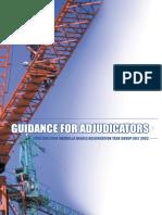 Adudicators - Advice on Adjudication