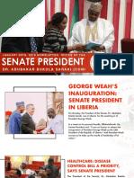 OFFICE OF THE SENATE PRESIDENT NEWSLETTER. FRIDAY, JANUARY 26TH, 2018