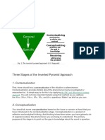 Three Stages of the Inverted Pyramid Approach