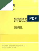 Hyvönen et al 1995 Maaseudun pienyritysten strategiat