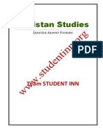 Pakistan Studies Complete Notes Question Answer Format by Rikazzz