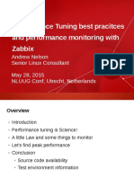Performance Tuning best pracitces and performance monitoring with Zabbix