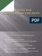 Pelatihan Dan Pengembangan Karyawan Msdm