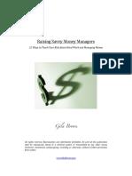 Raising Savvy Money Managers